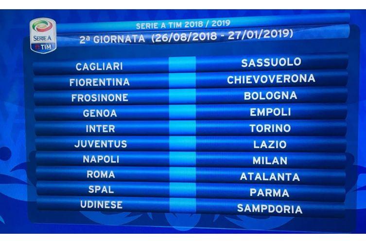 Calendario Napoli Serie A.Serie A 2018 2019 Il Calendario Della Lazio Esordio In